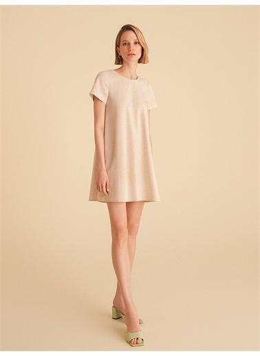 Nocturne Zincir Detaylı Mini Elbise Bej